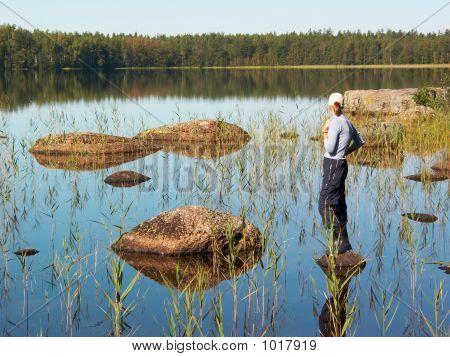 Girl On The Stony Lake