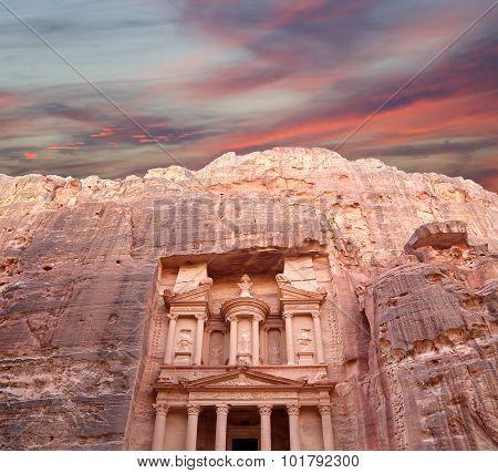 Al Khazneh or The Treasury at Petra Jordan