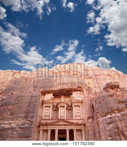 Al Khazneh Or The Treasury At Petra, Jordan-- It Is A Symbol Of Jordan, As Well As Jordan's Most-vis