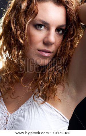Sensual Looking Young Redhead