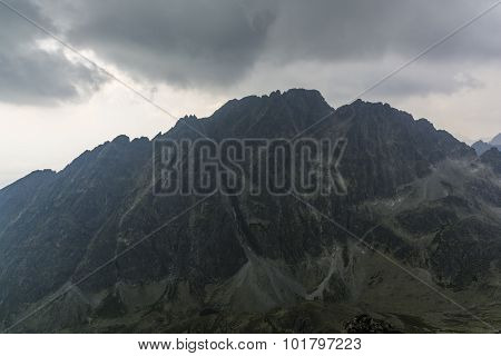 Black Storm Clouds Over Gerlach (gerlachovsky Stit)