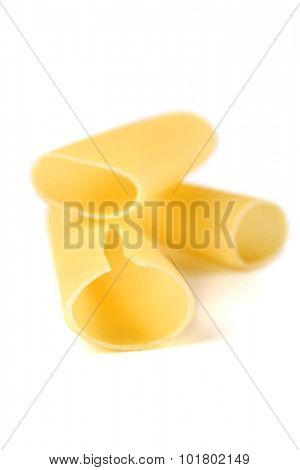 Cannelloni pasta on white background