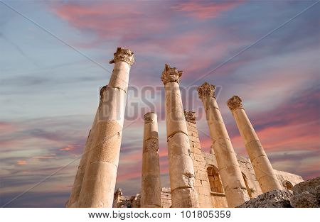Temple of Zeus Jordanian city of Jerash