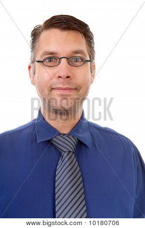Portrait Of Nerdy Geek