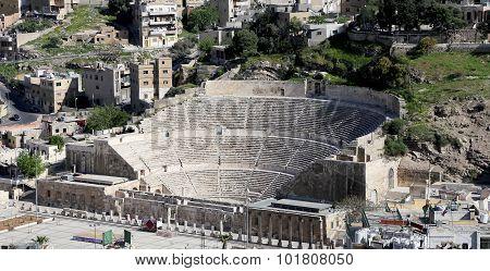 Roman Theatre In Amman, Jordan -- Theatre Was Built The Reign Of Antonius Pius (138-161 Ce), The Lar