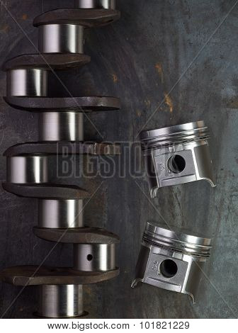 Pistons And Crankshaft