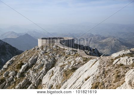 Viewpoint On Lovcen Mountain At Prince Njegos Mausoleum