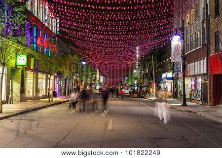 Saint Catherine Street Montreal
