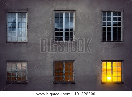 Wall With Six Windows