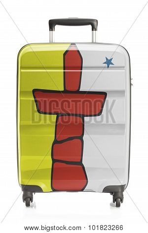 Suitcase With Canadian Territory And Province Flag Series - Nunavut