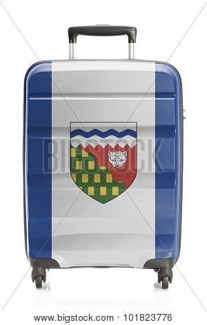 Suitcase painted into Canadian territory or province flag series - Northwest Territories poster