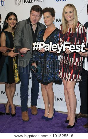 LOS ANGELES - SEP 12:  Melanie Chandra, Henry M Ford, Marcia Gay Harden, Bonnie Somerville at the Fall TV Preview - Code Black at the Paley Center For Media on September 12, 2015 in Beverly Hills, CA