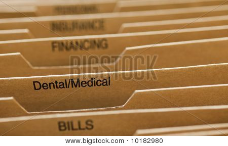 Cardboard Filing System Medical Dental