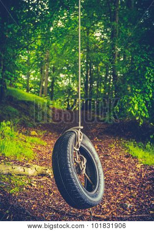 Retro Forest Tyre Swing