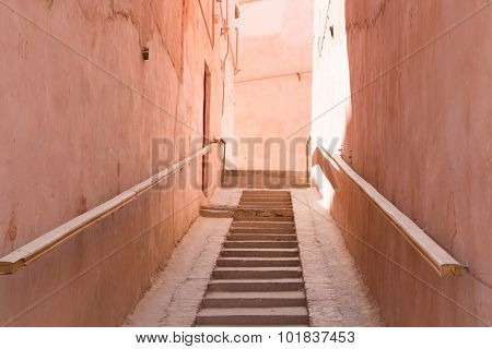 Stairs In An Old Town