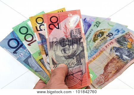 Australian And New Zealand Dollar Banknotes