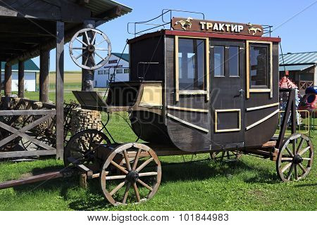 Vintage stagecoach in Peasant Museum