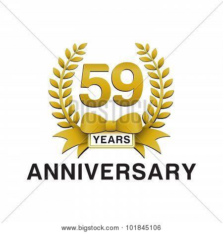 59th anniversary golden wreath logo