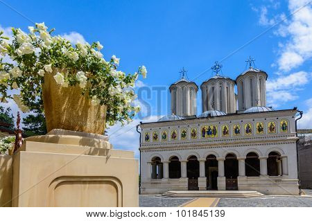 Romanian Patriarchal Cathedral On Dealul Mitropoliei 1665-1668, In Bucharest, Romania. Architectural