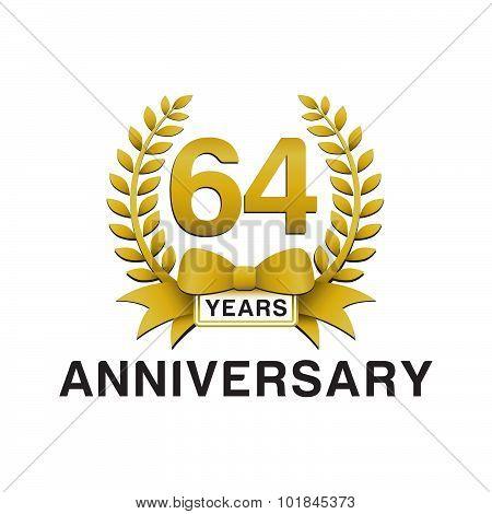 64th anniversary golden wreath logo