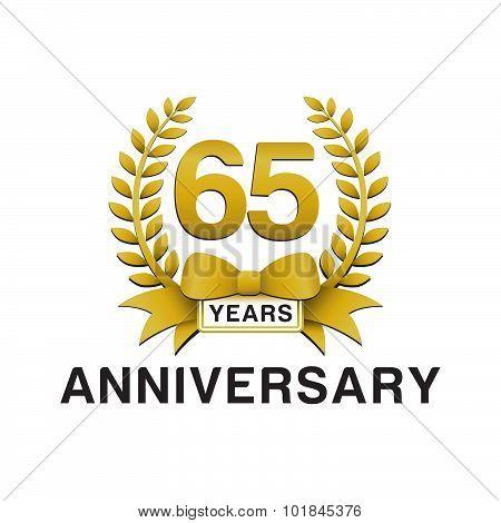65th anniversary golden wreath logo