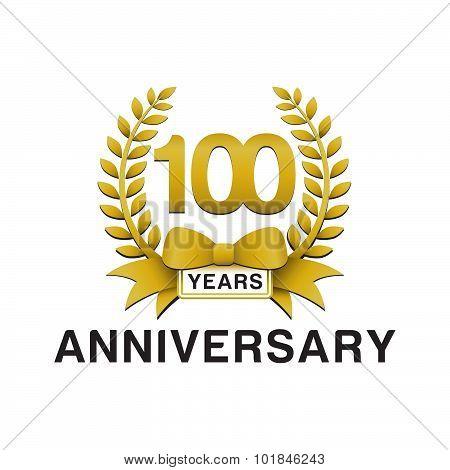 100th anniversary golden wreath logo