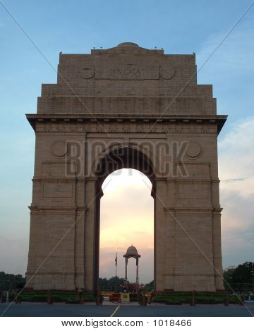 the magnificent india gate in new delhi india.
