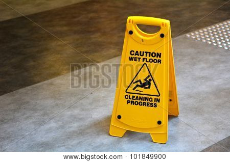 Slippery Floor Surface Warning Sign  And Symbol