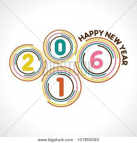 creative New Year 2016 design stock vector