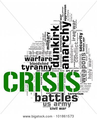 Crisis Word Meaning Hard Times And Adversity poster