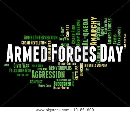 Armed Forces Day Shows Military Action And Army