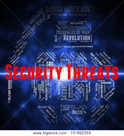 Security Threats Means Private Text And Menacing