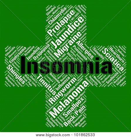Insomnia Word Means Sleep Disorder And Affliction
