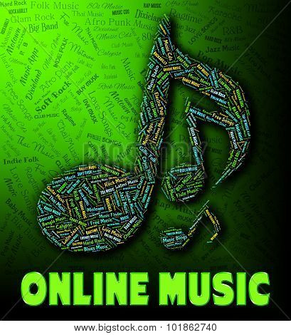 Online Music Indicates World Wide Web And Audio