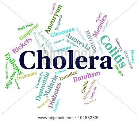Cholera Disease Showing Poor Health And Word poster