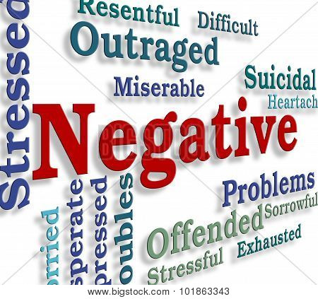 Negative Word Represents Pessimistic Unresponsive And Wordclouds