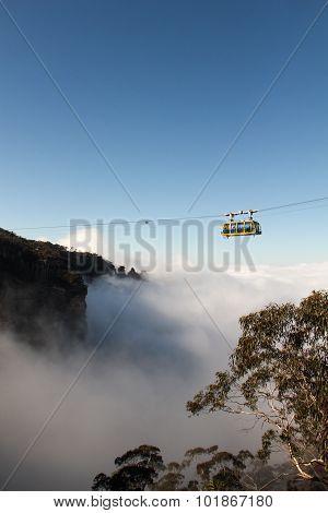 Cableway Above Clouds