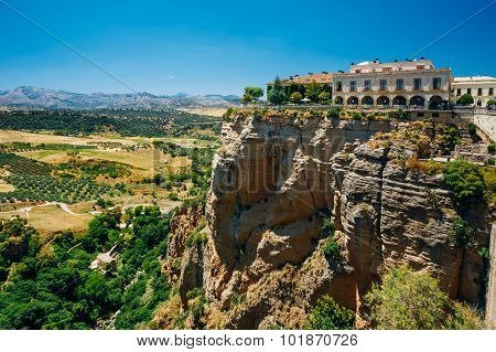 Old Spanish City Ronda over The Tajo De Ronda Is A Gorge Carved