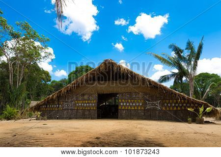 Native Brazilian Hut in the Amazon