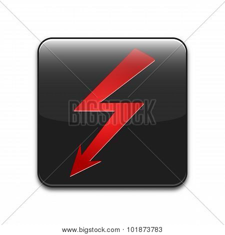 Vector High Voltage Sign Or Icon