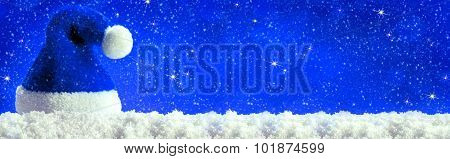 Christmas  blau background .