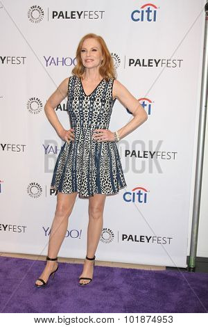 LOS ANGELES - SEP 16:  Marg Helgenberger at the PaleyFest 2015 Fall TV Preview -