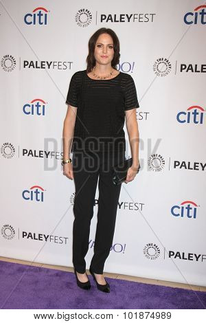 LOS ANGELES - SEP 16:  Jorja Fox at the PaleyFest 2015 Fall TV Preview -
