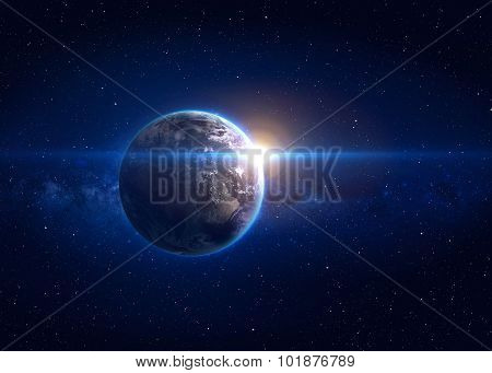 Hight quality Earth image. Elements of this image furnished by NASA poster