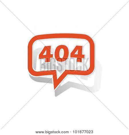 404 message sticker, orange