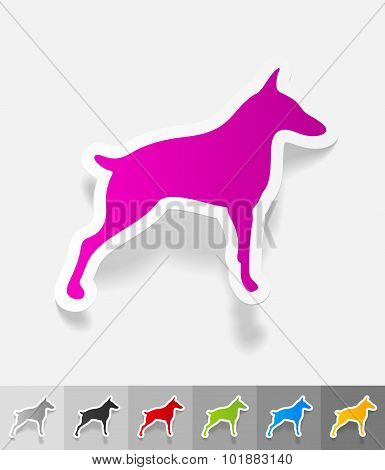 realistic design element. doberman