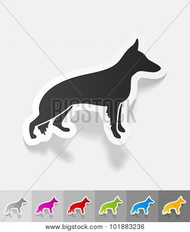 realistic design element. german shepherd