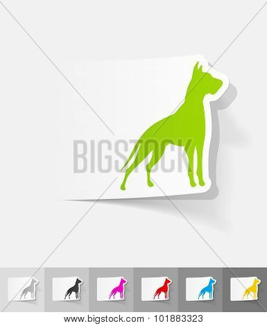 realistic design element. great dane