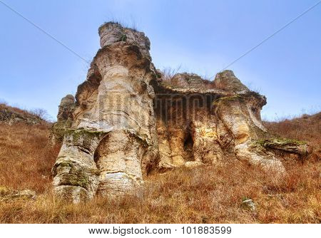 Landscape with phenomenon rock formations
