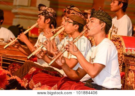 Musicians Play Traditional Balinese Music
